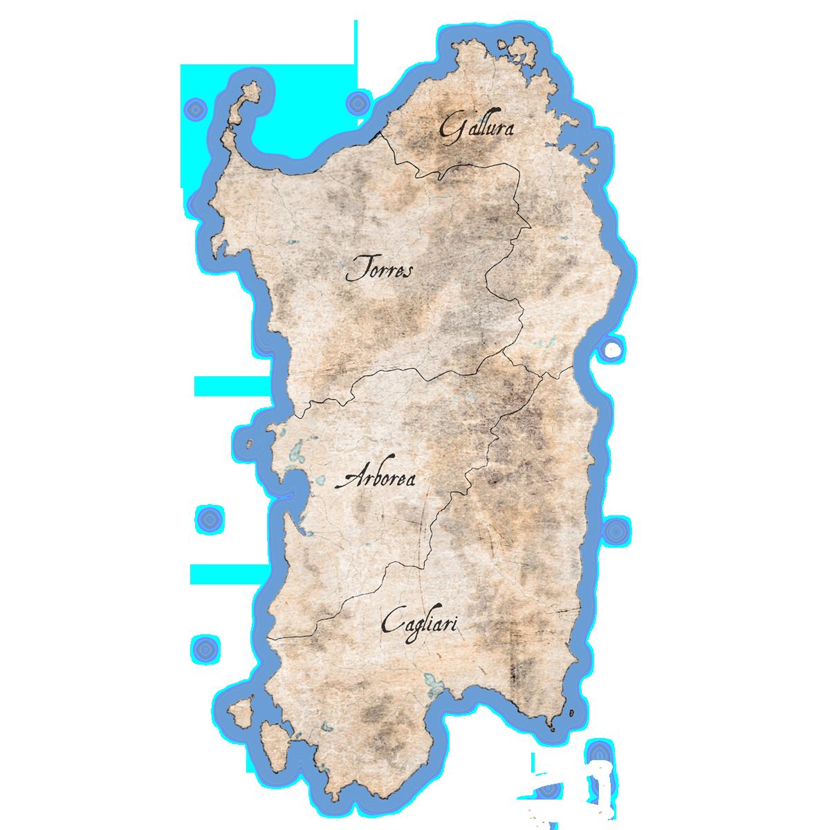 Cartina Sardegna Medievale.Museo I Cavalieri Delle Colline Il Periodo Giudicale